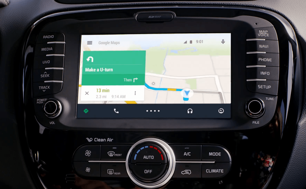 google launches the android auto app. Black Bedroom Furniture Sets. Home Design Ideas