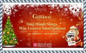 iSing announces Christmas Giveaway for users from India